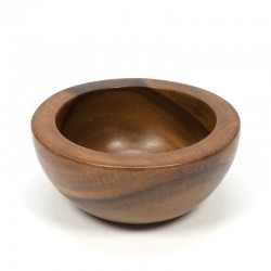 Vintage bowl of teak with thick edge