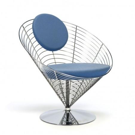 Vintage stoel ontwerp Verner Panton de Wire Cone chair