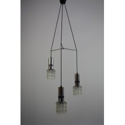 Chrome hanging lamp with glass