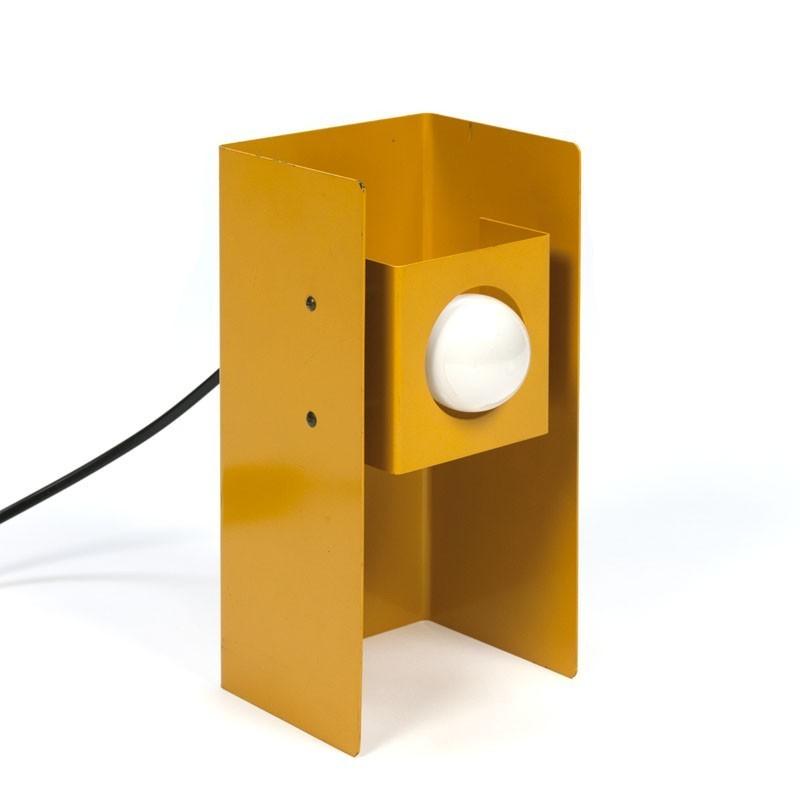 Gele vintage Philips tafellamp