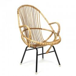 Nederlandse vintage Rotan fauteuil