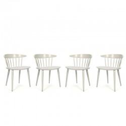 Vintage set van 4 J104 stoelen van FDB