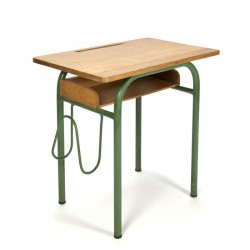Vintage green French teenage desk