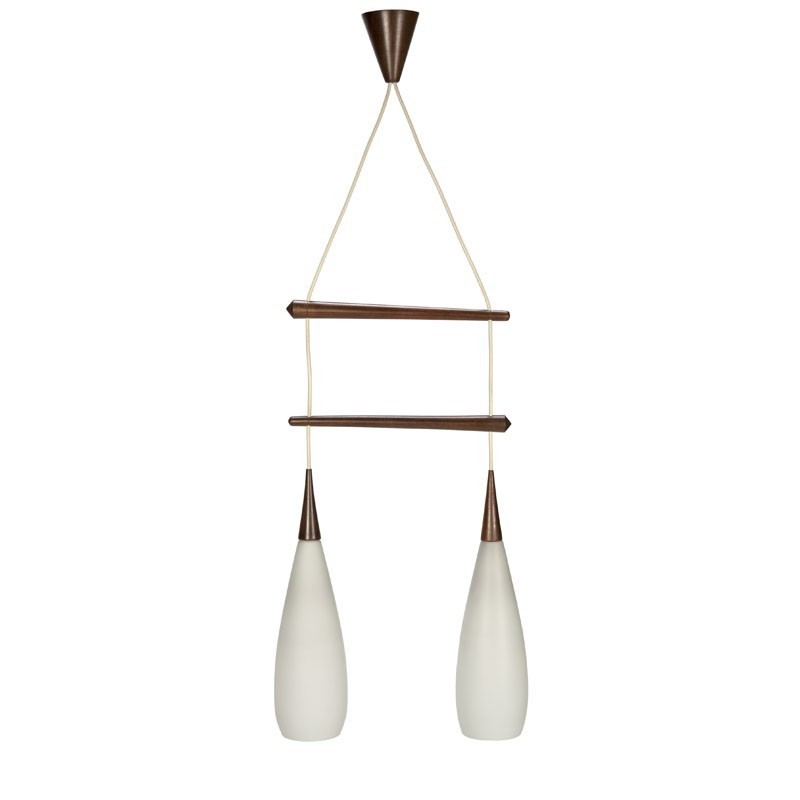 Hanging Lamp Nl: Vintage Hanging Lamp With Milk Glass Shades