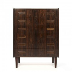 Danish vintage chest of drawers in rosewood