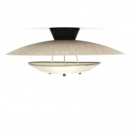Vintage Philips plafondlamp met diffuser