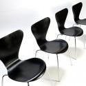 Vintage set 3107 butterfly chairs design Arne Jacobsen for Fritz Hansen