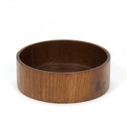 Vintage round small teak bowl