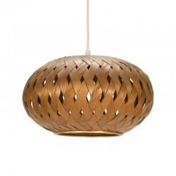 Vintage wicker hanging lamp
