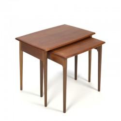 Danish teak vintage nesting tables set of 2
