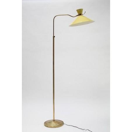 Yellow/ brass floorlamp 1950's