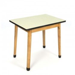 Vintage table for children with yellow formica top