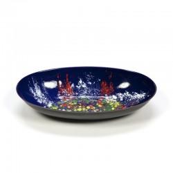 Vintage enamel blue bowl