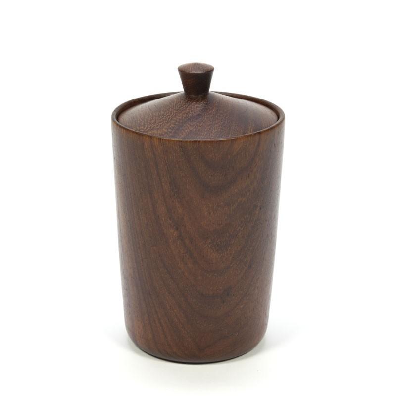 Vintage teak wooden storage box