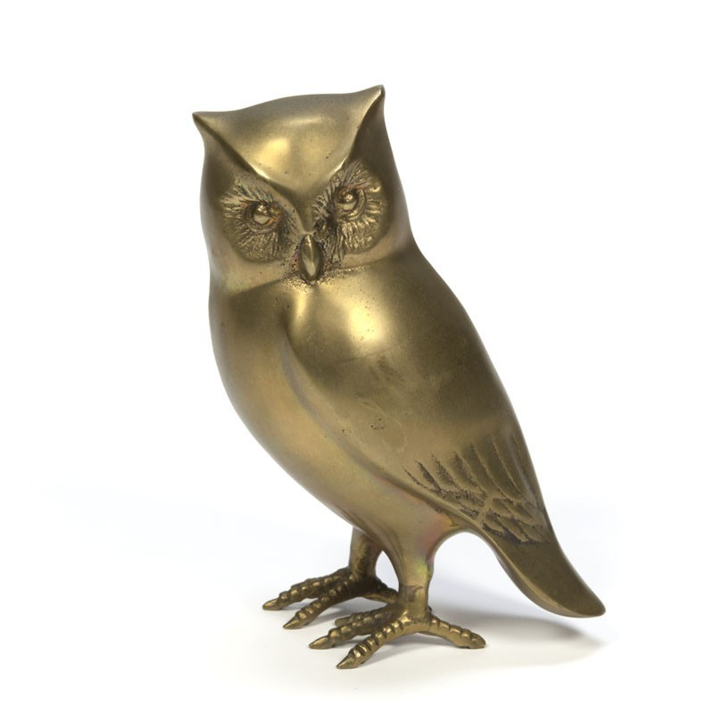 Vintage decorative brass owl