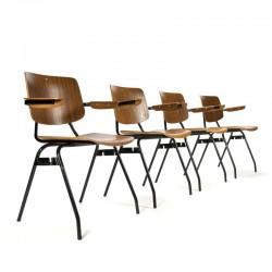 Vintage set Kho Liang Ie stoelen voor CAR Katwijk