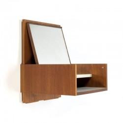 Nederlandse vintage Pastoe wandkast met spiegel