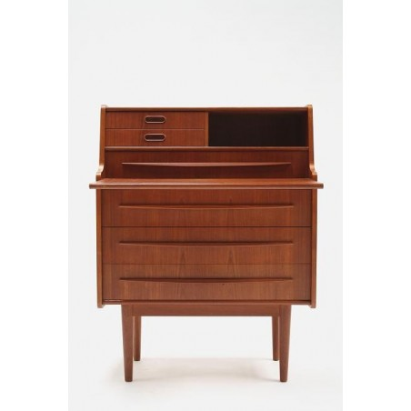 Secretaire in teak from Scandinavia