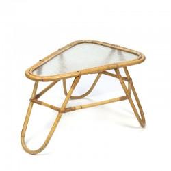 Vintage rotan side table