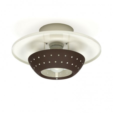 Vintage plafondlamp jaren zestig van Dijkstra