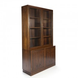 Danish vintage luxury glass cabinet in rosewood
