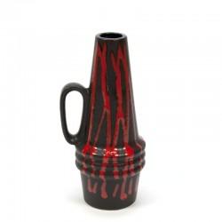 Vintage kannetje/ vaasje rood/ zwart