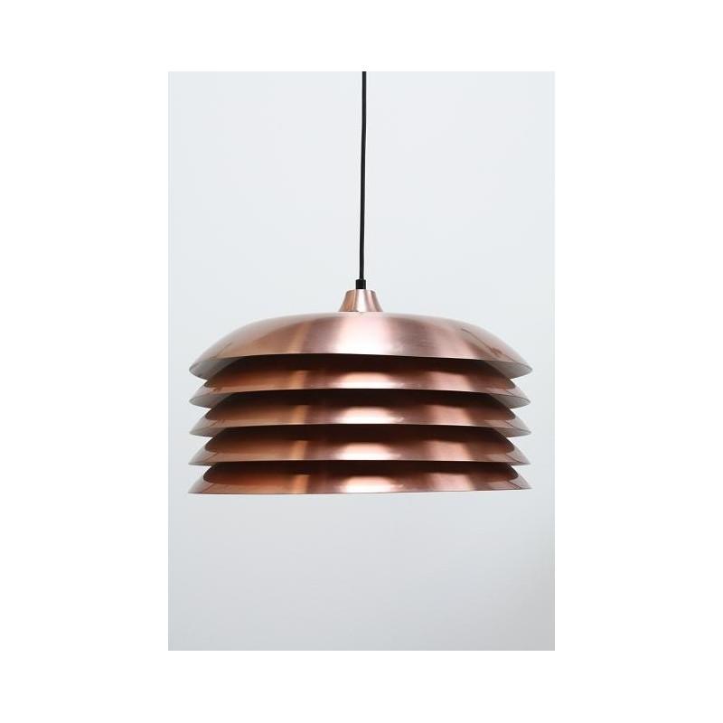 Schijven hanglamp koper kleurig