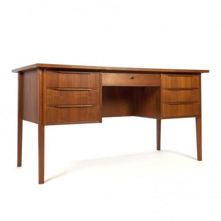 Large Vintage Danish teak desk
