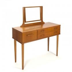 Danish vintage dressing table on tall leg