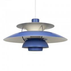 Vintage blauwe PH 5 hanglamp Louis Poulsen