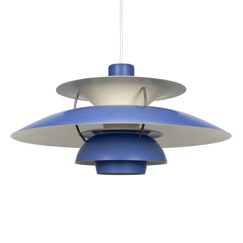 Vintage Blue PH 5 Hanging Lamp Louis Poulsen