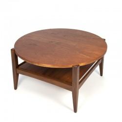 Teak round vintage coffee table