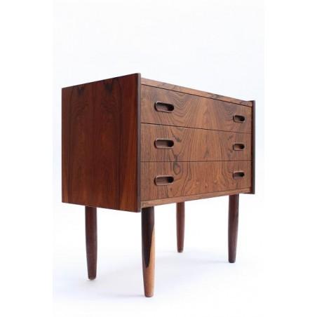 Kleine palissander houten ladenkast 3