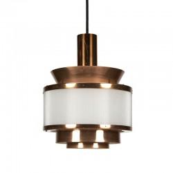 Koperen Deense vintage hanglamp