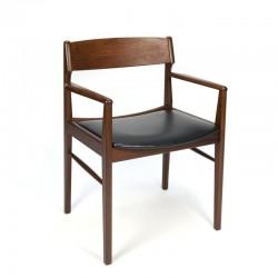 Deense vintage teakhouten design bureaustoel