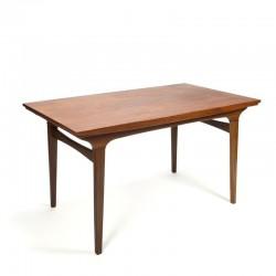 Teak extendable Danish vintage dining table