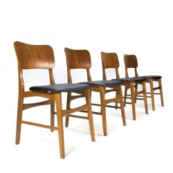 Set van 4 Deense vintage eettafel stoelen