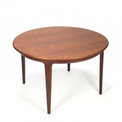 Round extendable Danish vintage dining table