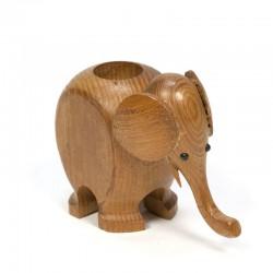 Vintage kleine olifant van hout