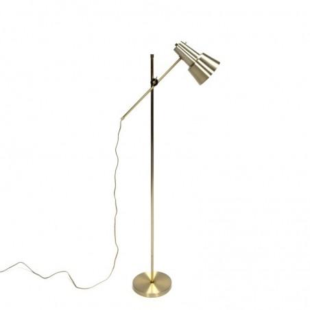 Vintage messing staande Deense lamp