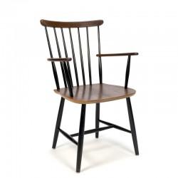 Vintage teak bar chair with armrest
