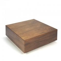 Vintage palissander houten blok salontafel