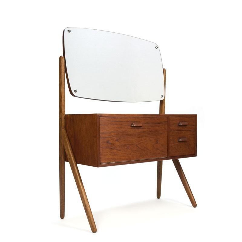 Teakhouten kaptafel vintage Deens design