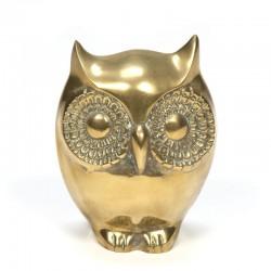 Decorative vintage brass owl