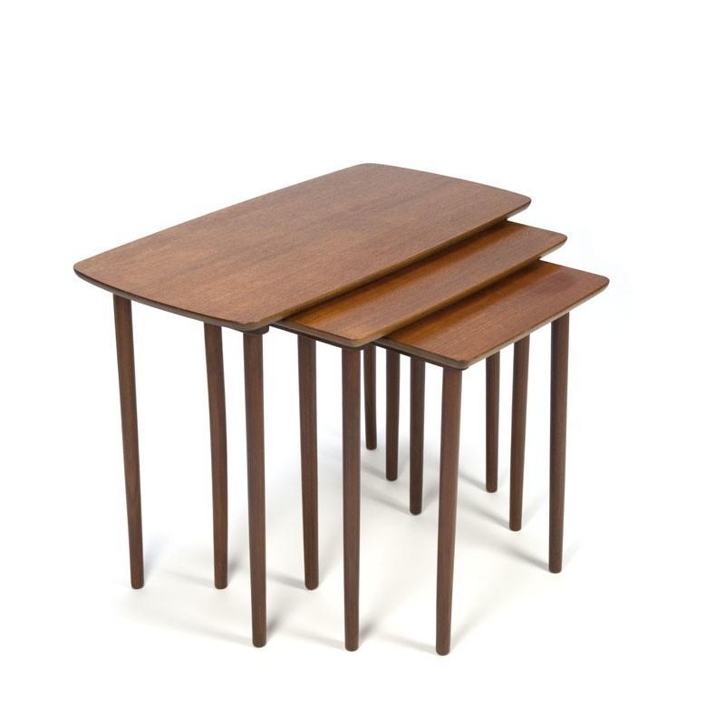 Vintage Danish Nesting Tables In Teak