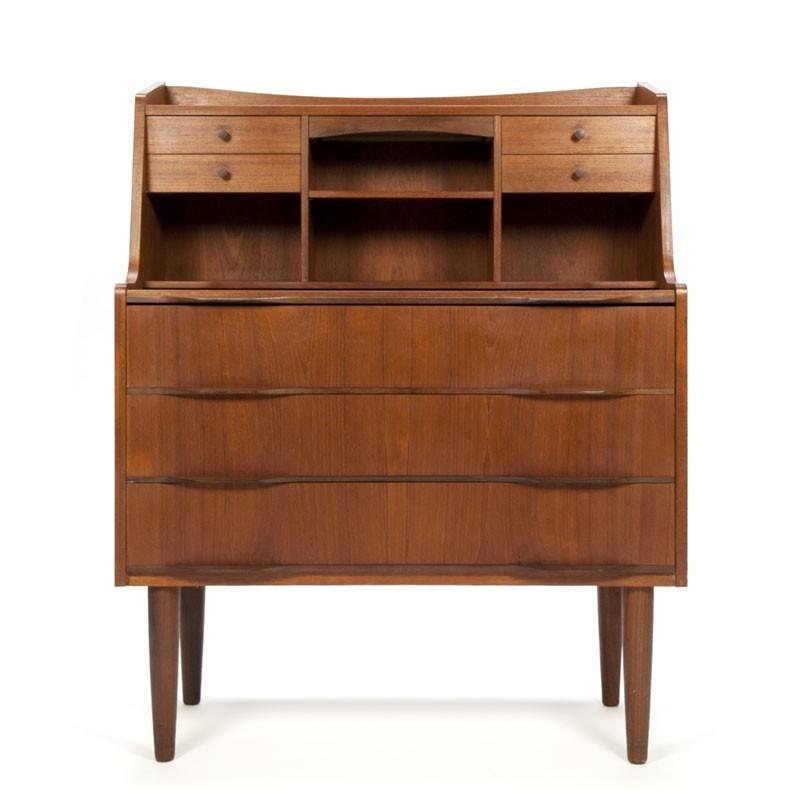 Deens teakhouten vintage secretaire meubel retro studio for Vintage meubels