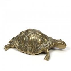 Vintage messing schildpad