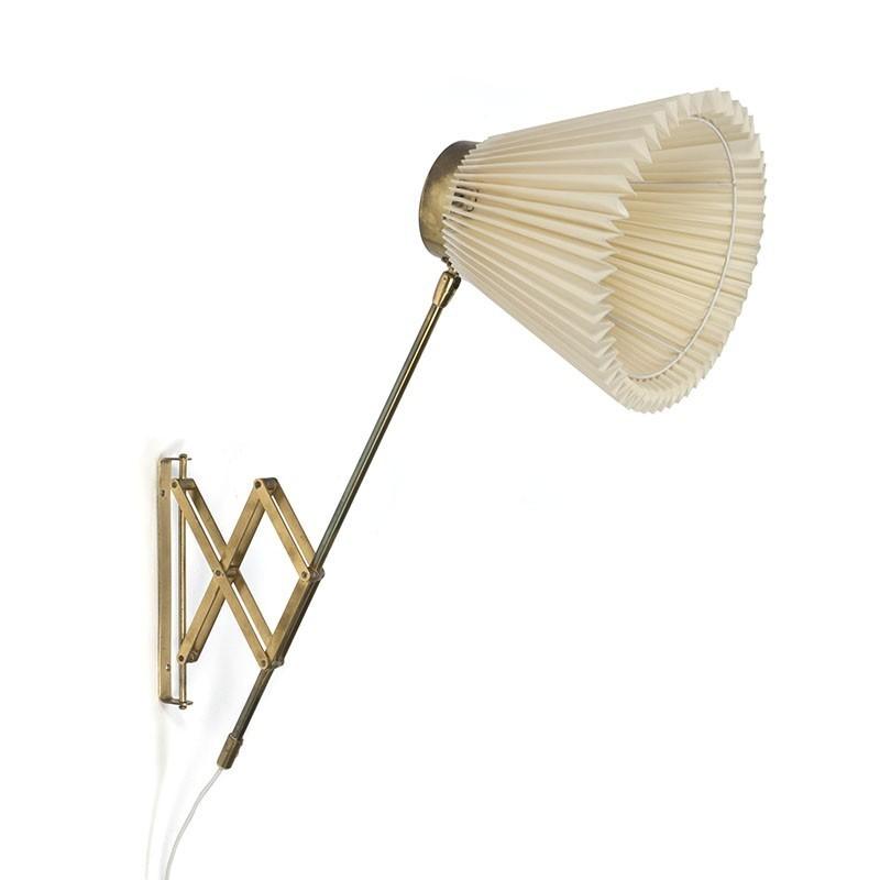 Danish brass concertina wall light