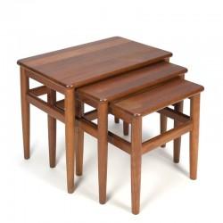 Teak Danish vintage nesting tables