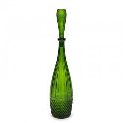 Vintage green glass bottle/ decanter